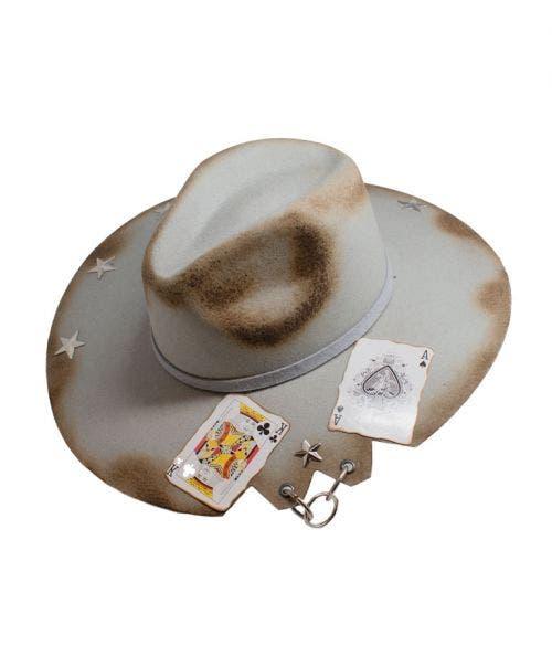 Monna Vintage  Sombrero Fedora - Naipes y Estrellas