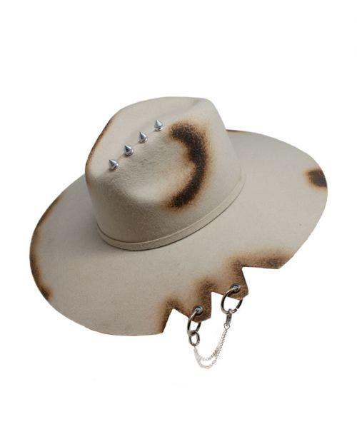 Monna Vintage  Sombrero Fedora - Fuego y Estoperoles
