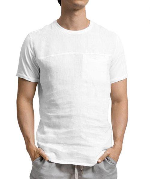 Touché  T-Shirt de Lino con Bolsillo