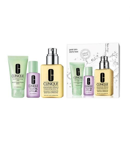 Clinique  Great Skin Starts Here Set - (with Dramatically Different™ Moisturizing Lotion+)